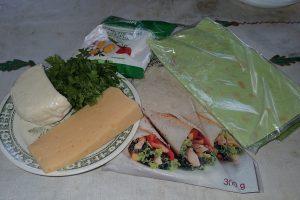 Ингредиенты для лаваша с сыром на мангале