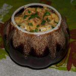 Сусамыр, куриная печень в сметане