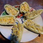 Печеный перец с сыром и кукурузой
