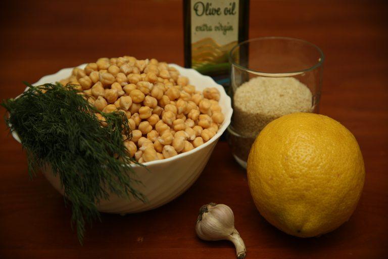 Ингредиенты для приготовления хумуса