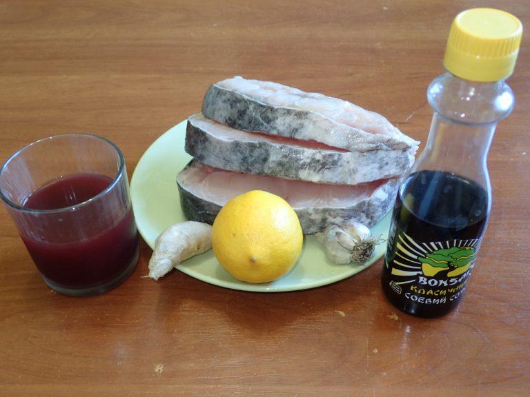 Ингредиенты для приготовления шашлыка из сома