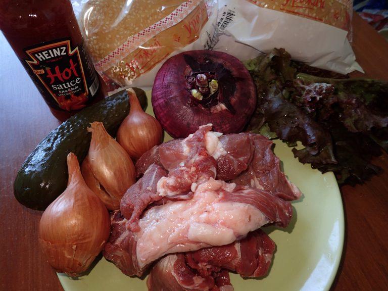 Ингредиенты для приготовления бургеров на гриле