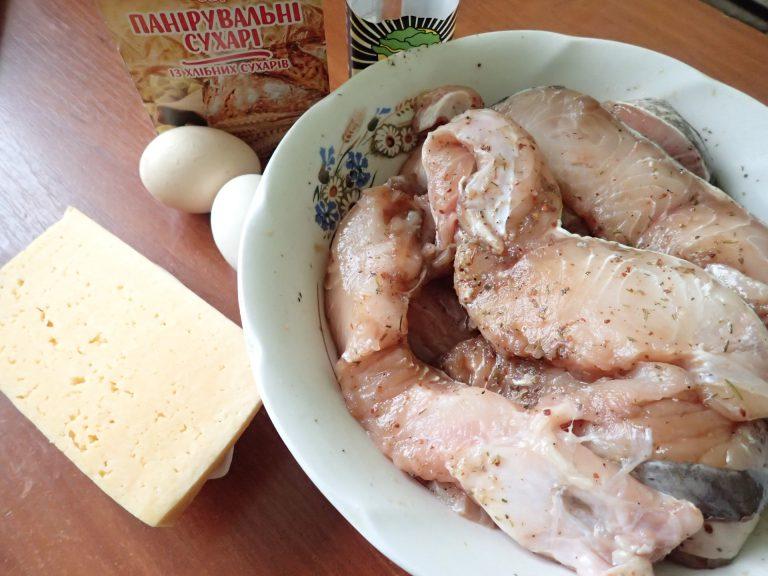Ингредиенты для приготовления рыбы, запеченной в духовке