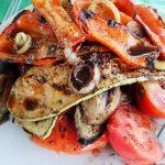 Овощи в маринаде на мангале