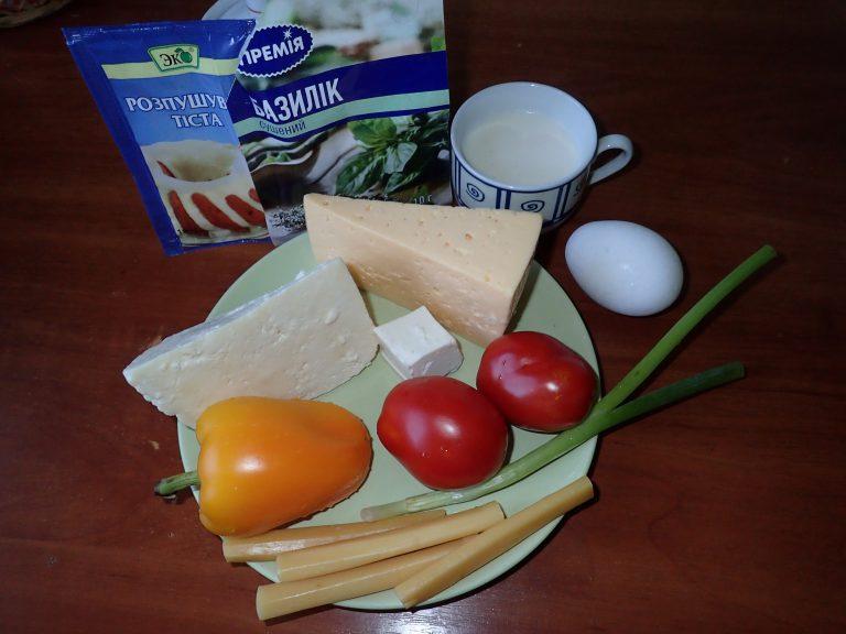 Ингредиенты для пиццы на мангале